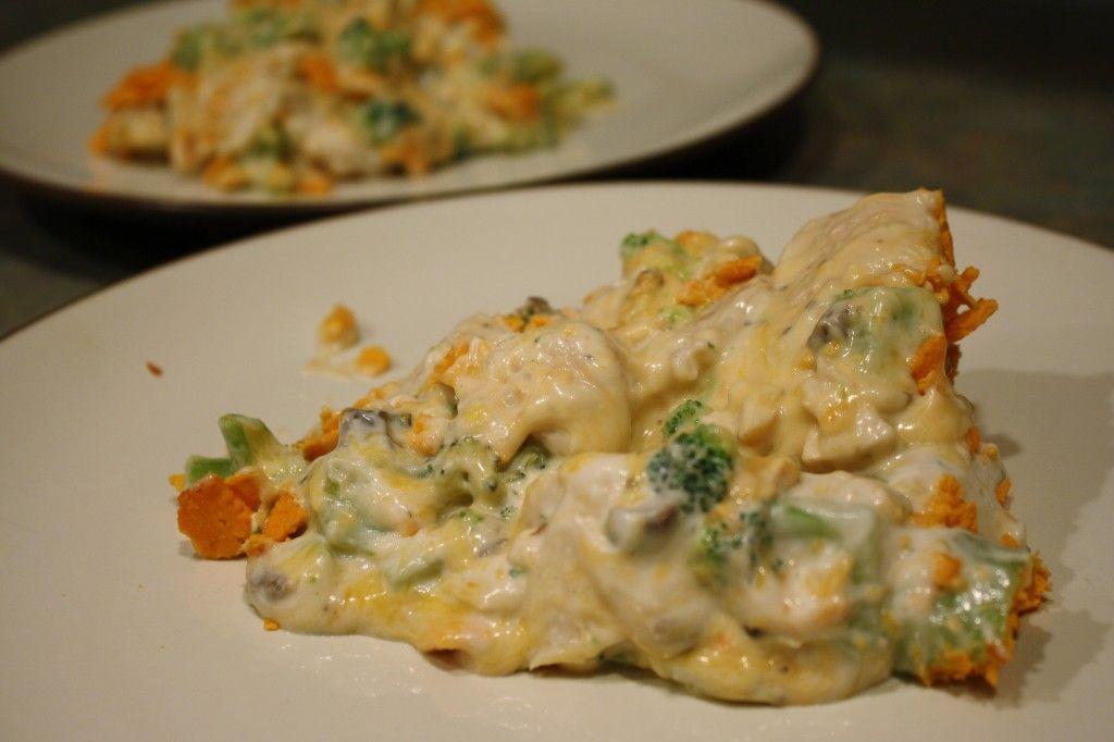 Skinny Chicken Broccoli Casserole YUM! #SkinnyMom