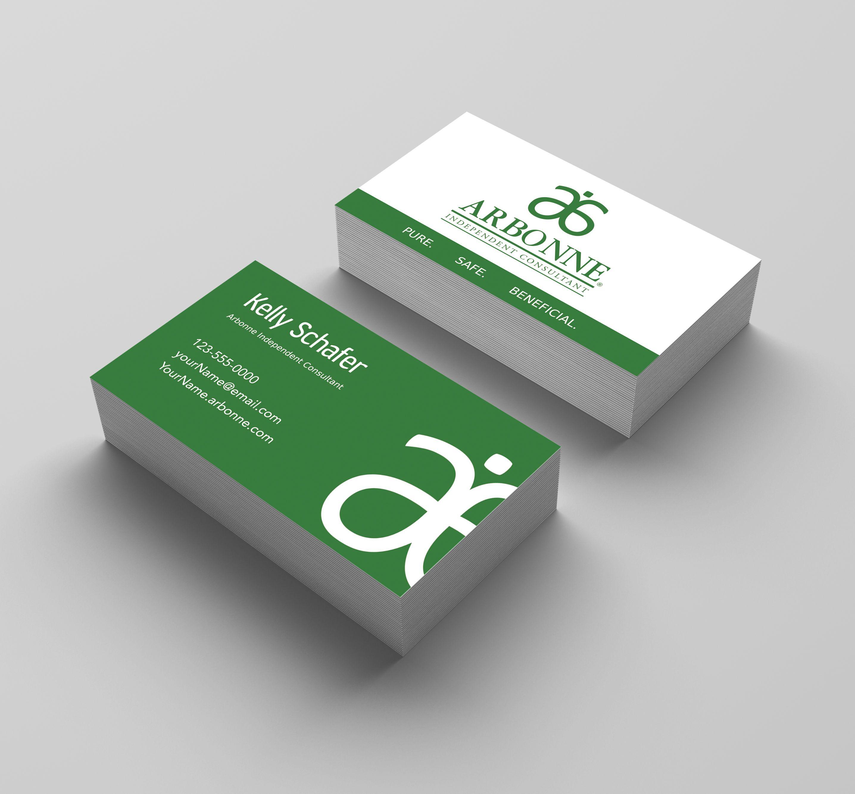 Arbonne Business Card Green Kakaodesigns Arbonne Business Cards Young Living Business Cards Classic Business Card
