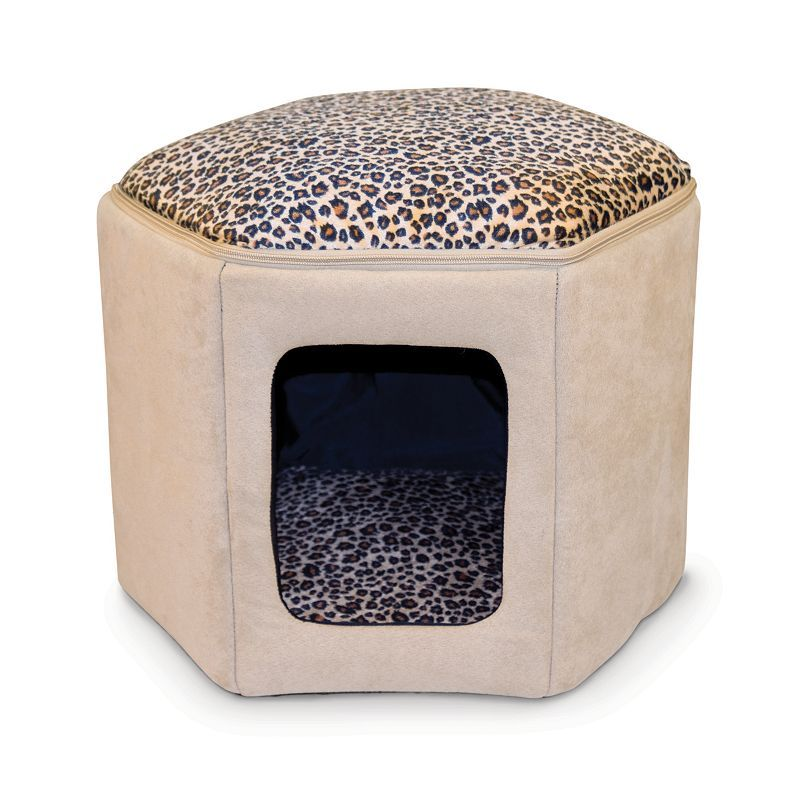 K H Pet Thermo Kitty Clubhouse Heated Cat Bed Heated Pet Beds Outdoor Cat House