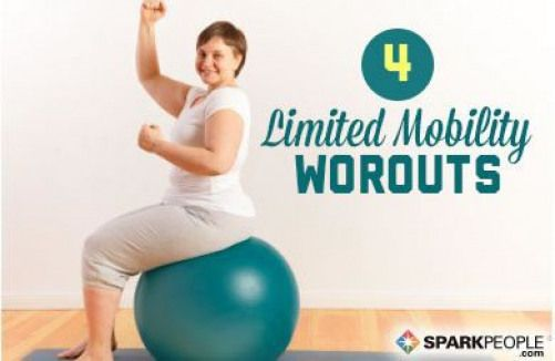 4 Workouts for People with Limited Mobility. These are FABULOUS!! Love being able to do them from my...