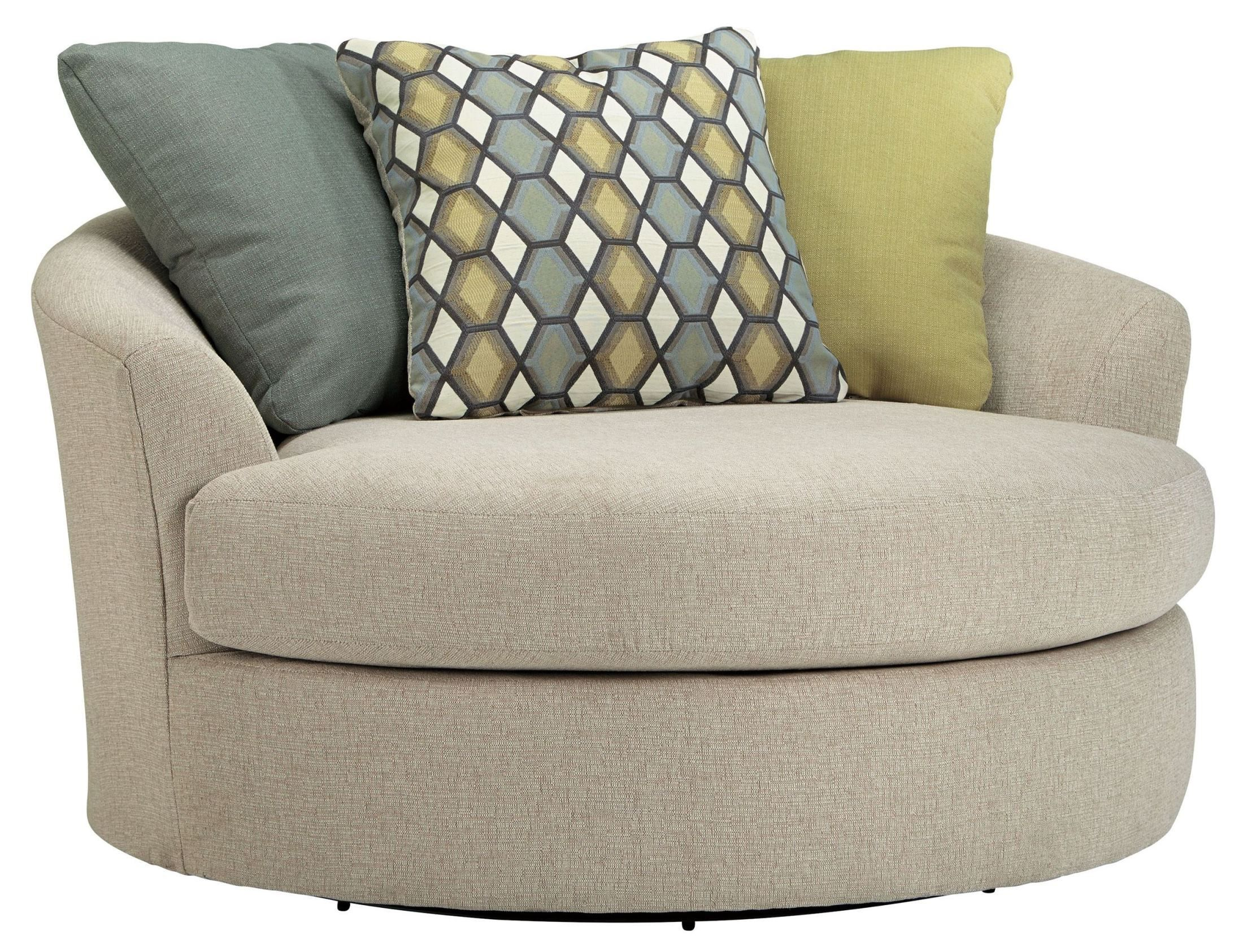 Ashley oversized swivel accent chair - Casheral Linen Oversized Swivel Accent Chair