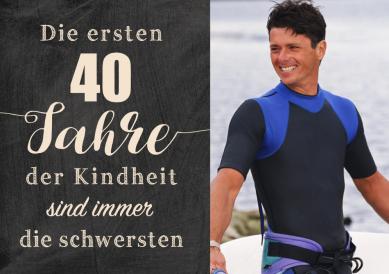 Kindheit 40 | 40er geburtstag | Birthday, Happy birthday ...