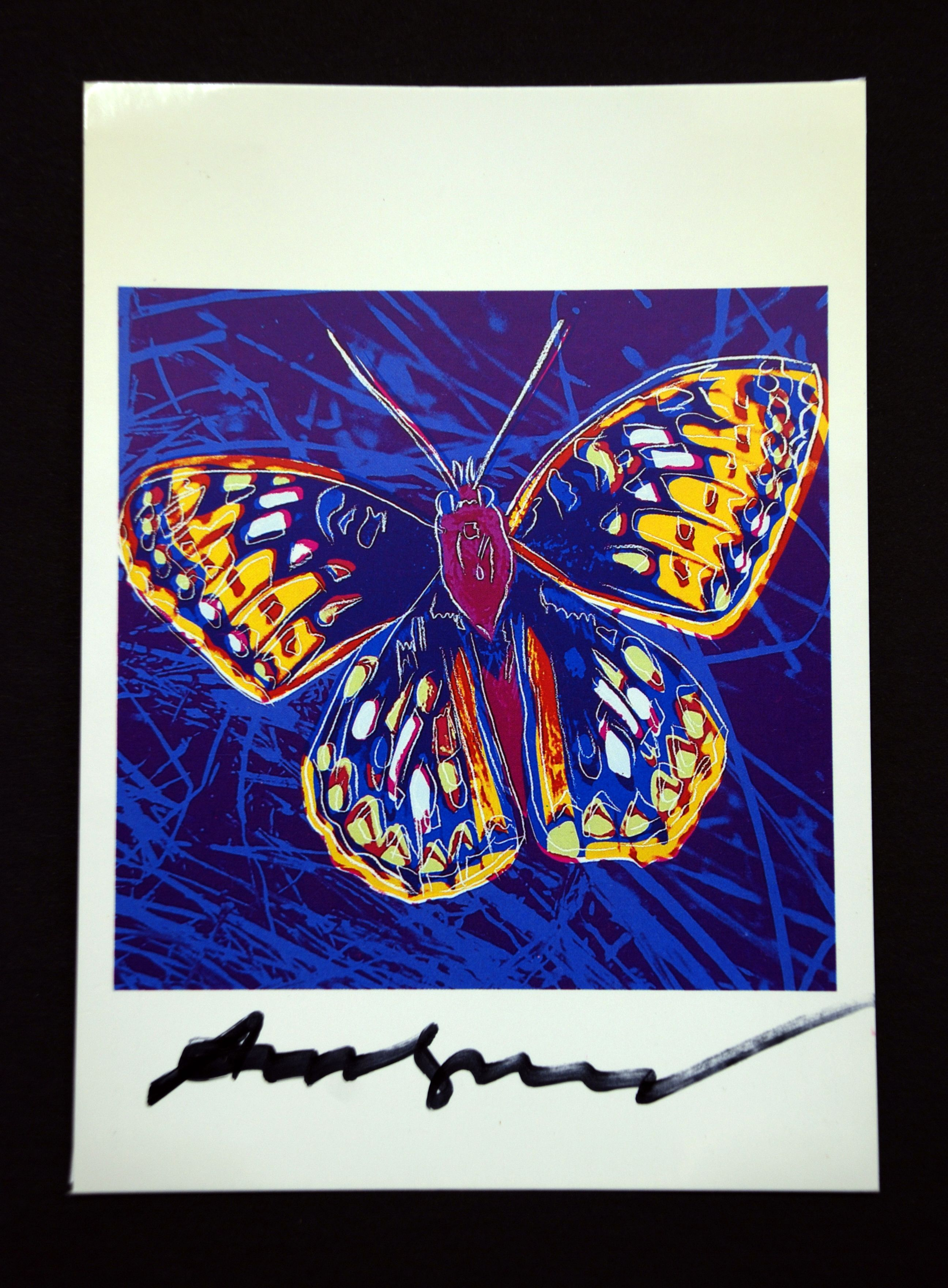 andy warhol butterfly signed bookplate insectos mariposas