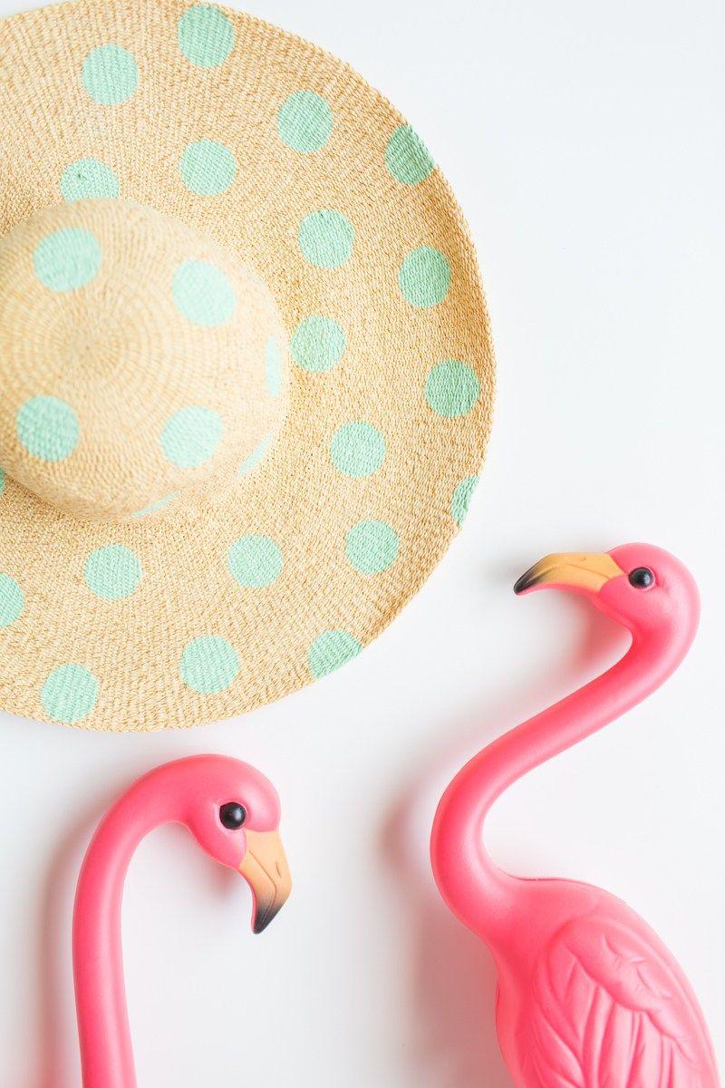 diy // polka dot floppy hat | floppy hats and summer