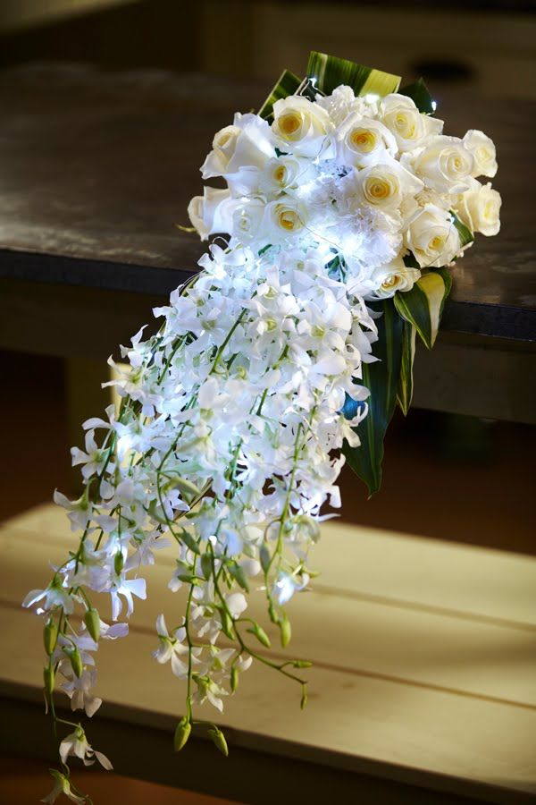 How to Arrange Flowers: Hand-Tied Cascade Wedding Bouquet! | CRAFTS ...