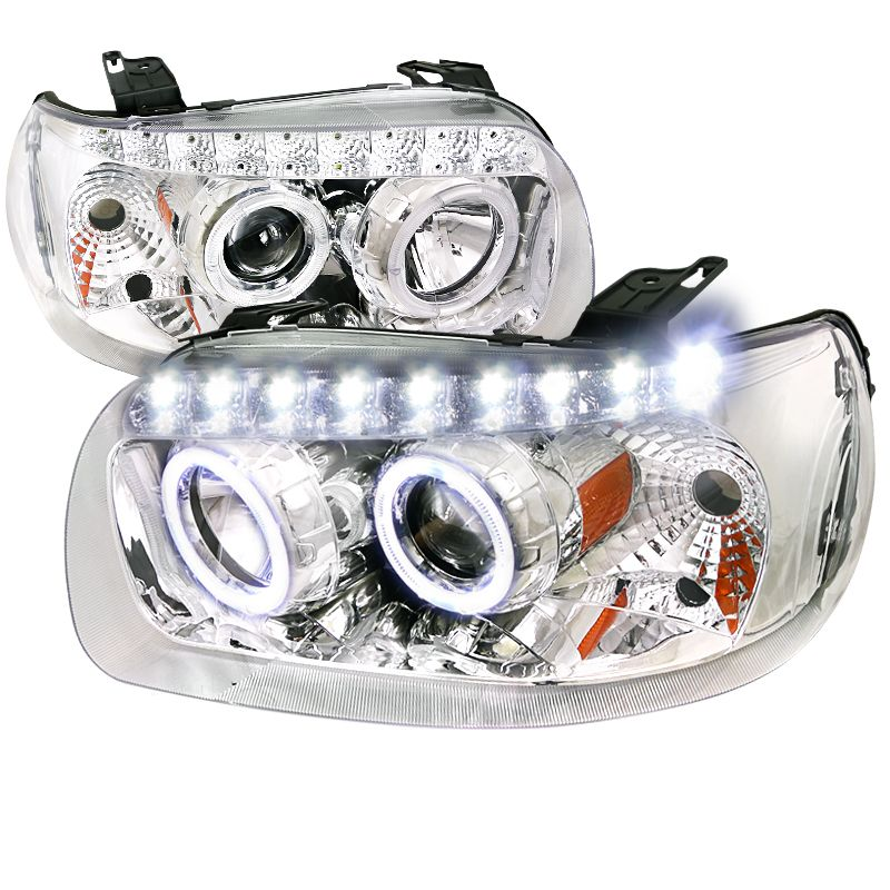 Ford Escape 2005 2007 Chrome Projector Headlights Projector Headlights Ford Escape Custom Headlights