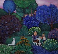 Gallery 3 - Sonja Lehto, naivistisia maalauksia  Puutarhassa