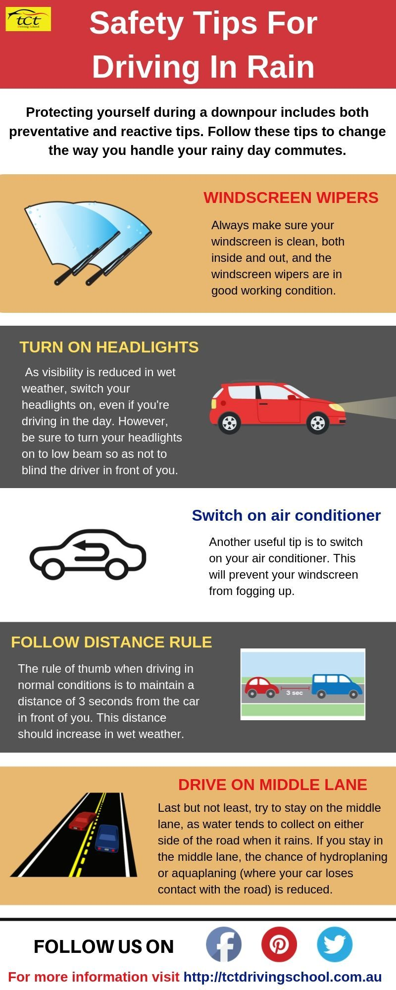 Safety Tips For Driving In The Rain.
