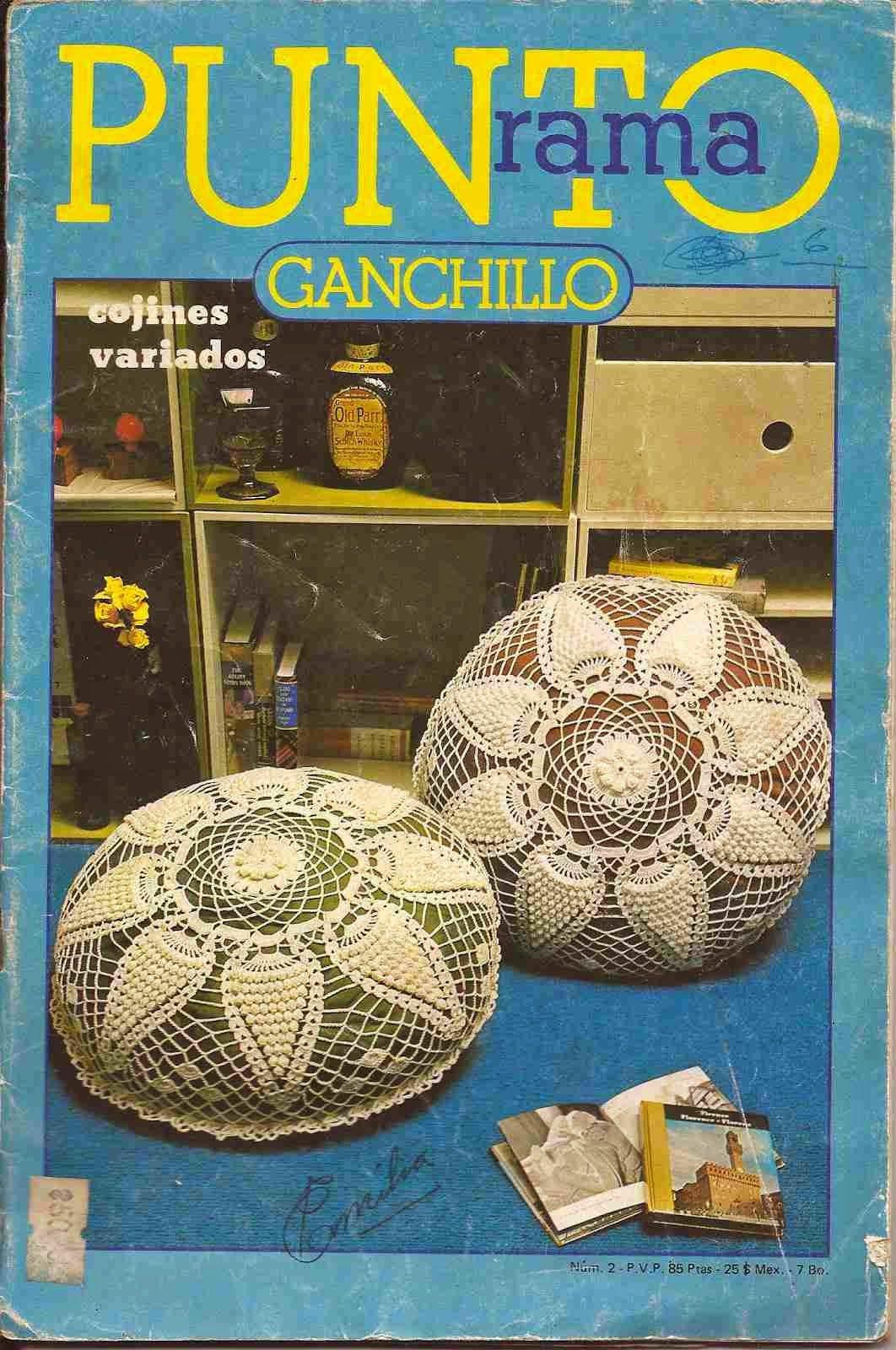 r punto rama ganchillo cojines variados patrones de crochet