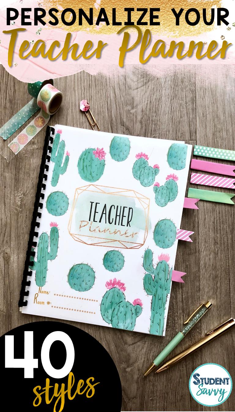 Teacher Planner 2018-2019 Editable Teacher Binder Covers | Teach ...