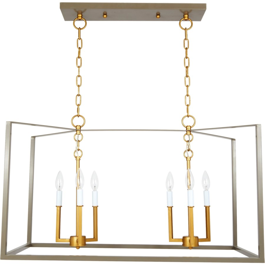 Grey And Gold Rectangular Manning Chandelier Chandeliers Old
