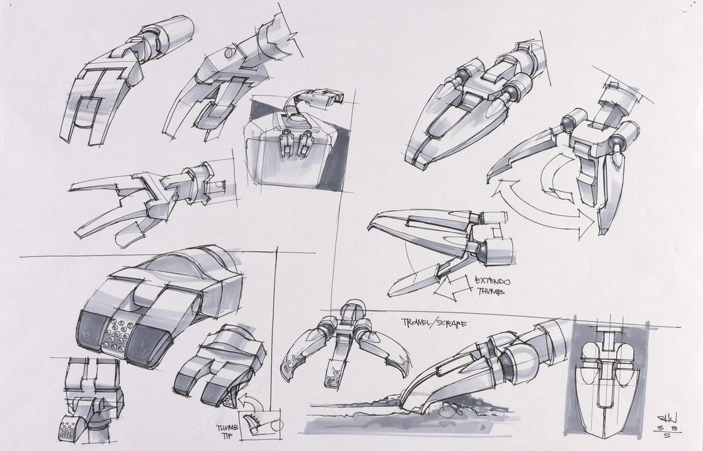 Concept Art, WALL·E Arms and Hands, WALL·E, 2008   Jay Shuster ...