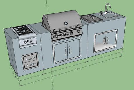 Flordia Blaze Dream 10ft Island Outdoor Kitchen Bbq Island Outdoor Covered Patio