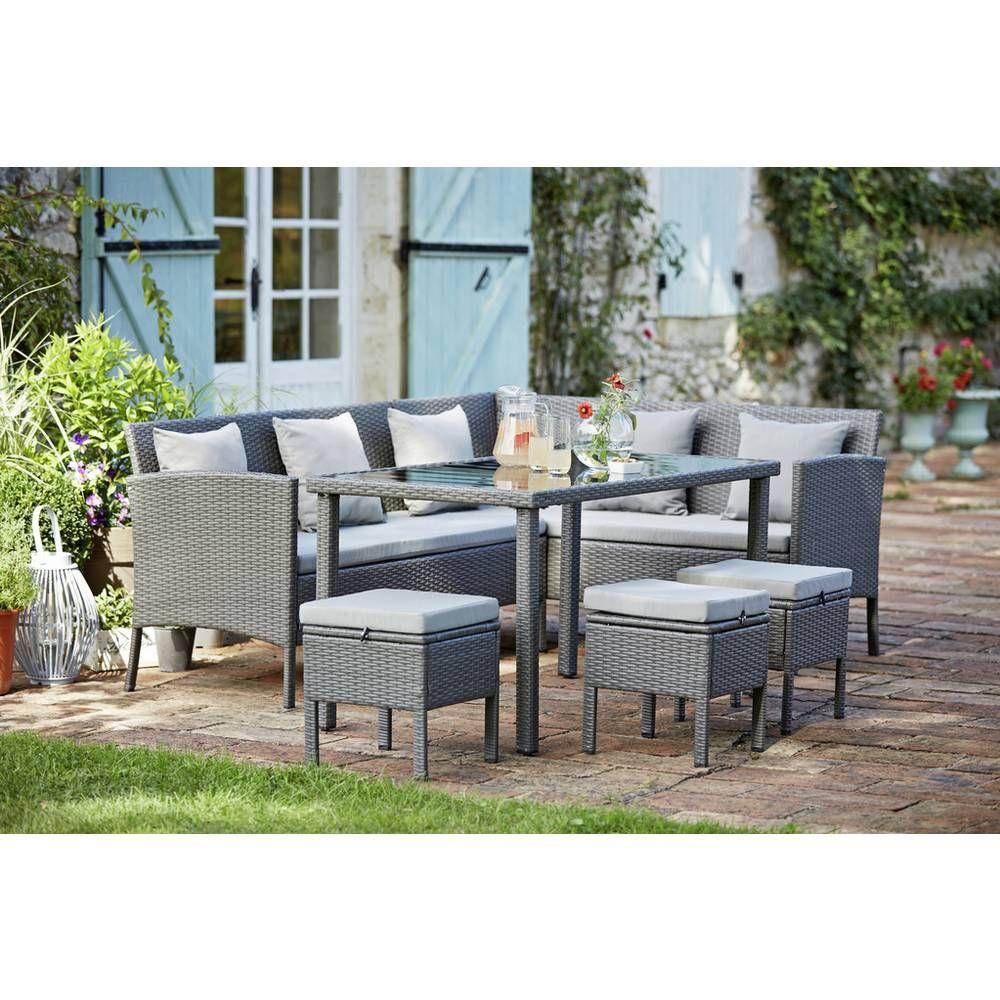 Argos Rattan Garden Table And Chairs: Buy Argos Home 8 Seater Rattan Effect Corner Sofa Set