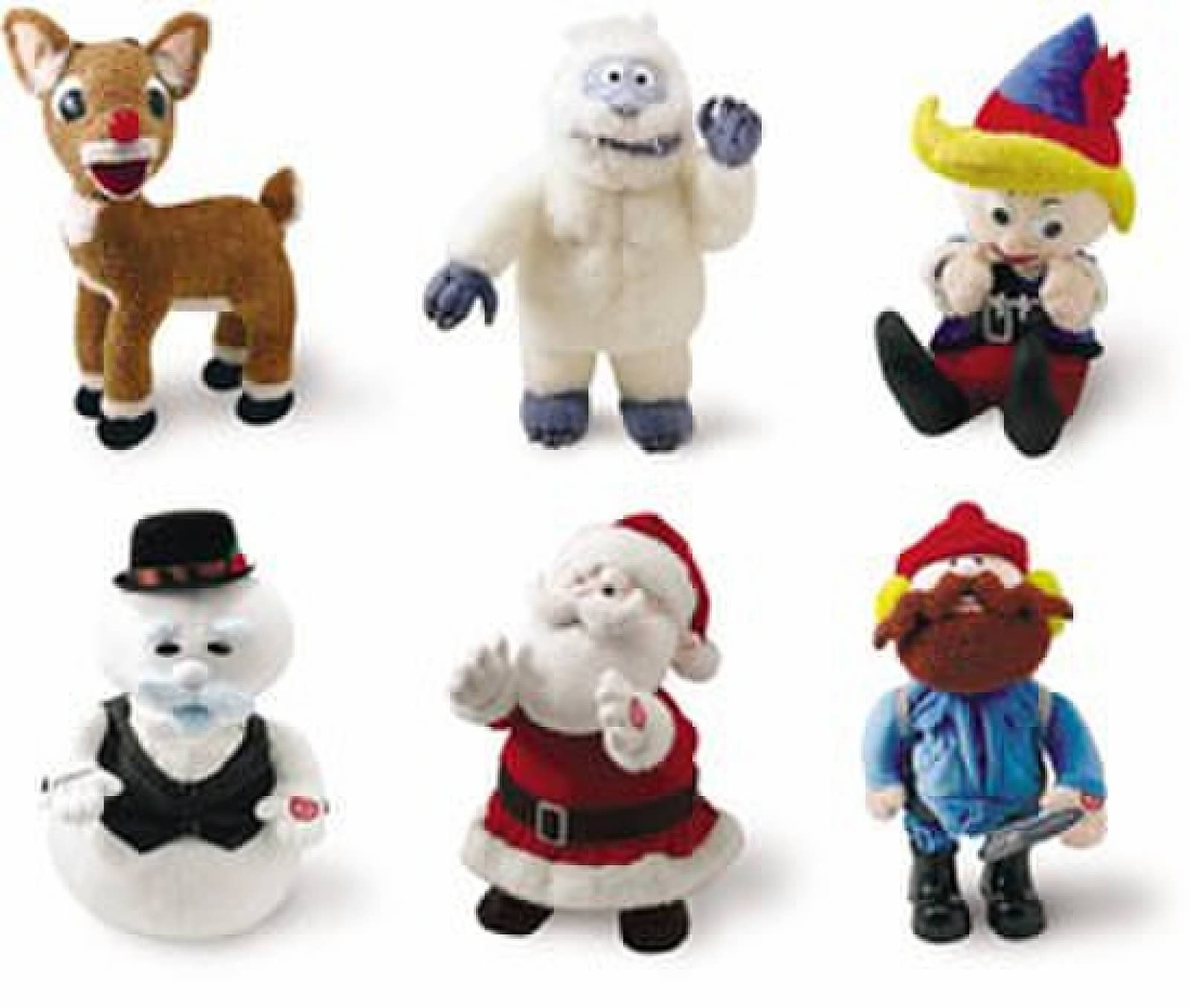 Christmas village cake toppers from the classic clay