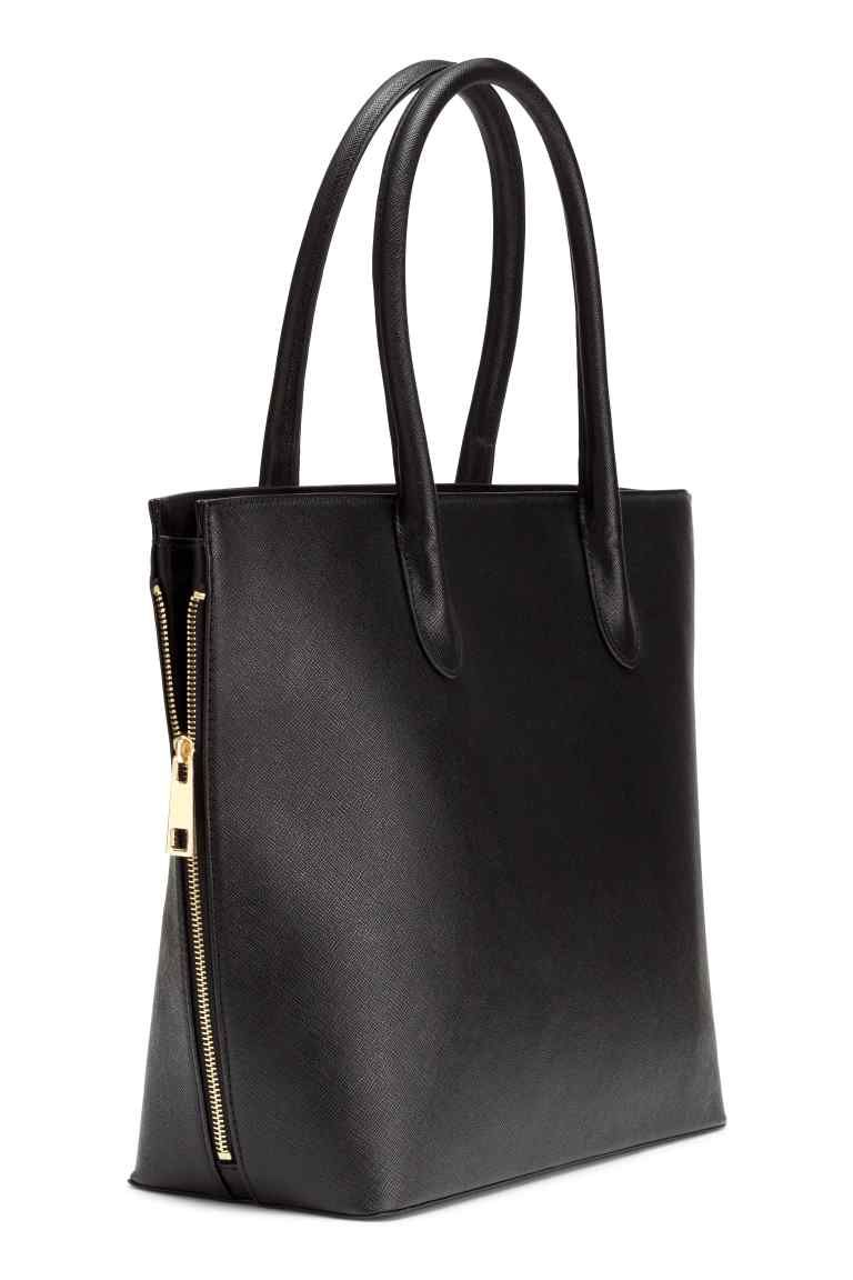 e42599f2a Handbag: Handbag in grained imitation leather with two handles and a zip at  the…