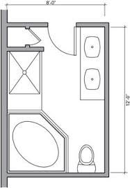 bathroom floor plans 6x9 with separate tub and shower ...