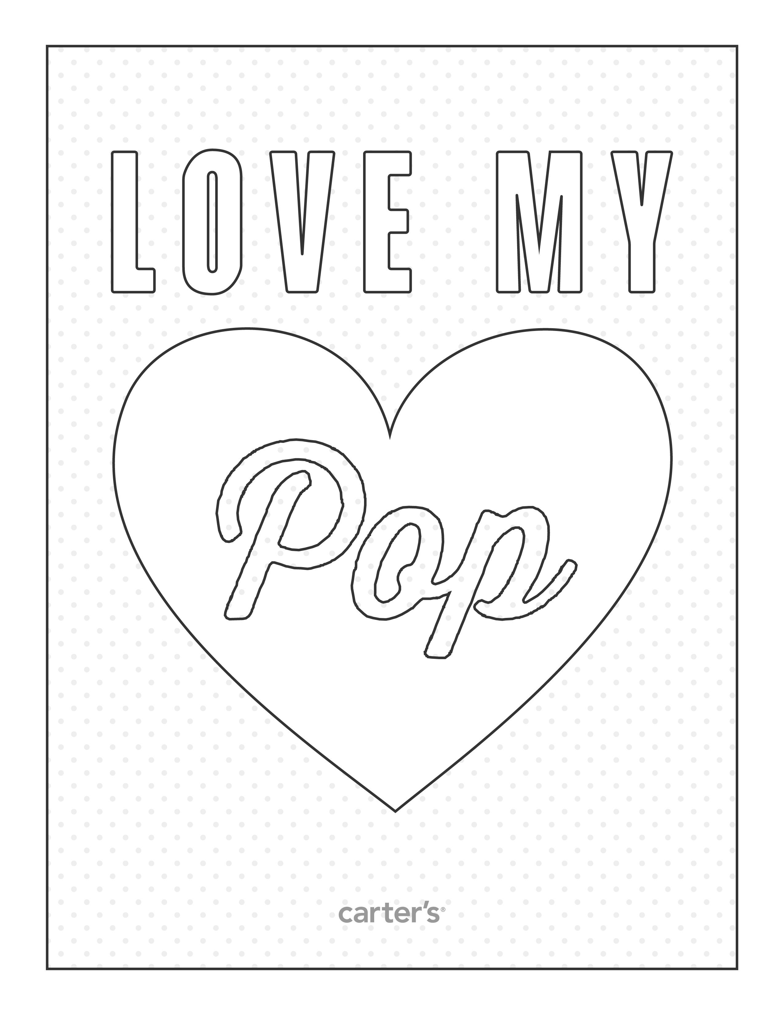 Love My Pop Free Printables From Carter S