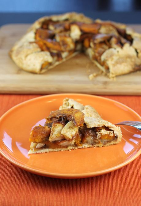 A taste of autumn with apples and pumpkin. SweeTango and Pumpkin Galette  from Food Gal. #SweeTango #apple