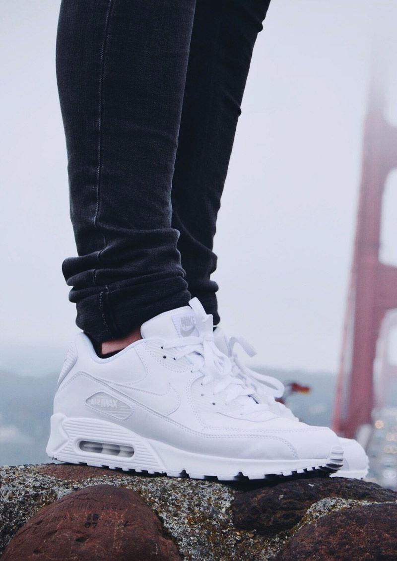 official photos 657d9 34bf3 NIKE Air Max 90 All White  nike  airmax90