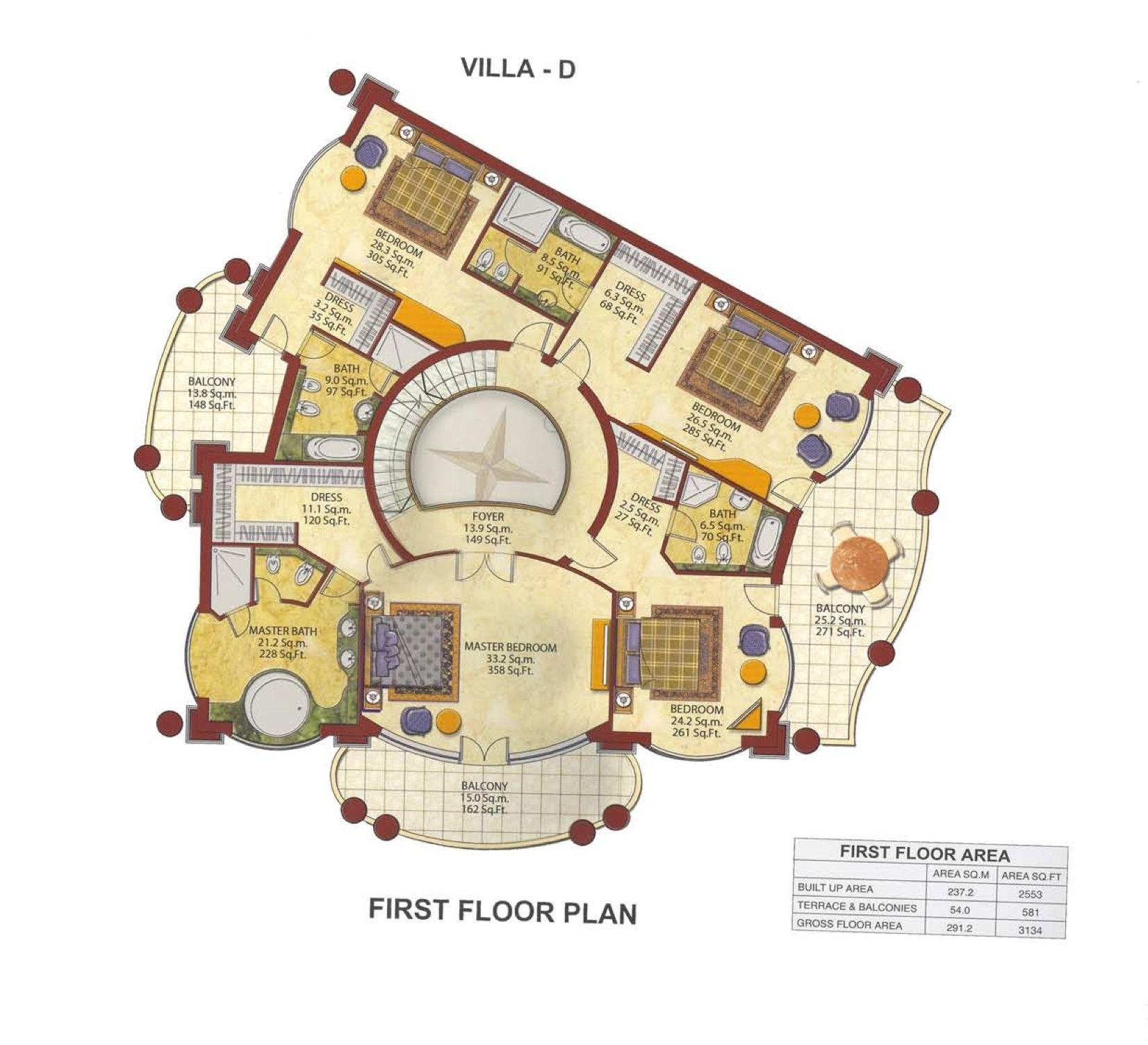 Dubai villas palm jumeirah plans google search res for Dubai house floor plans