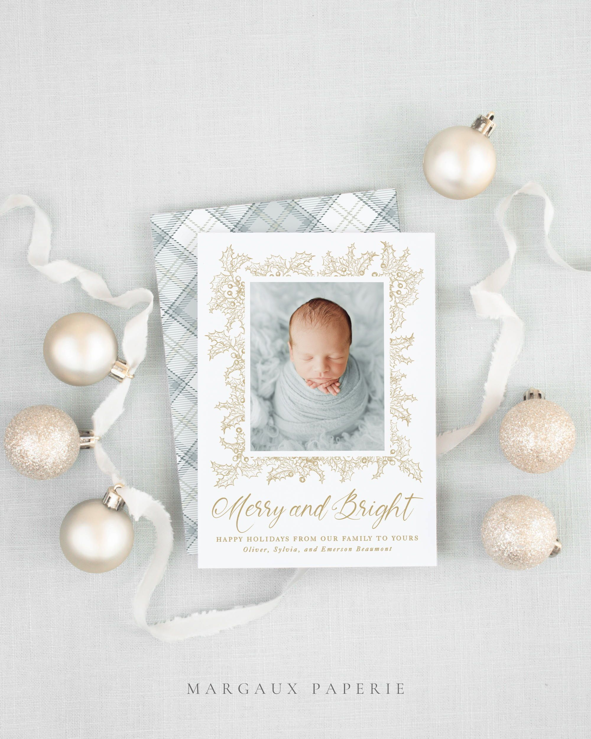 Merry And Bright Christmas Card Digital Download Printable Etsy Christmas Card Template Family Christmas Card Photos Printable Christmas Cards