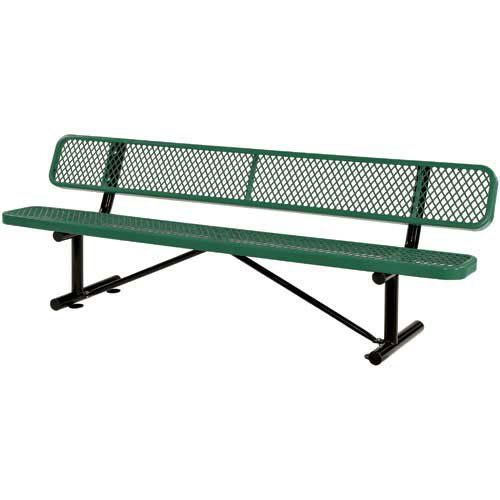 96 Bench With Back Rest Green ** This is an Amazon