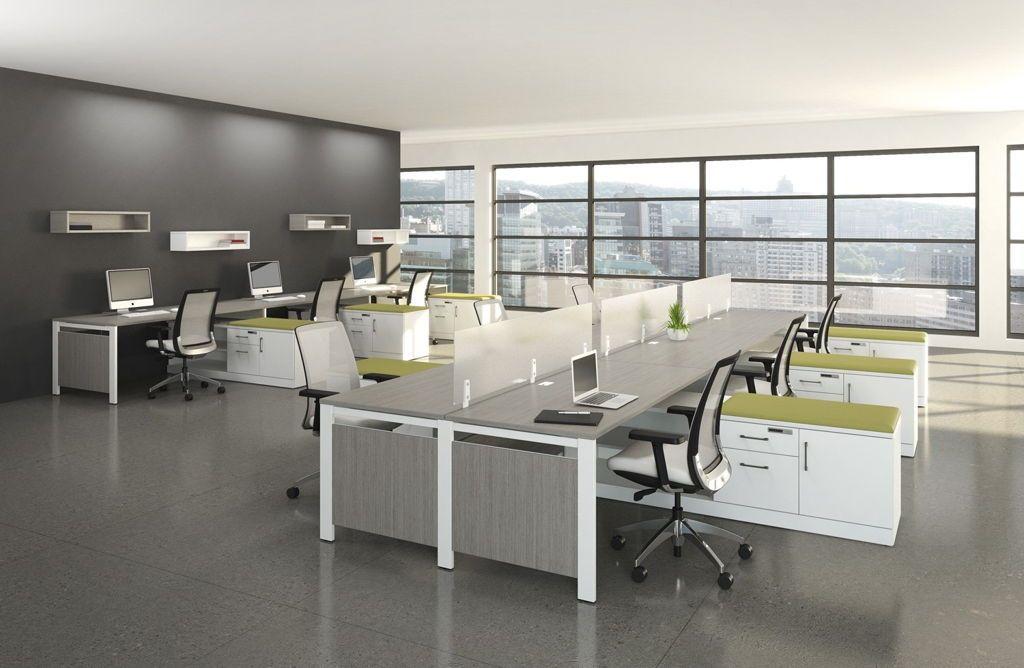 Horrible modern office interior ideas using grey marble Gray office ideas
