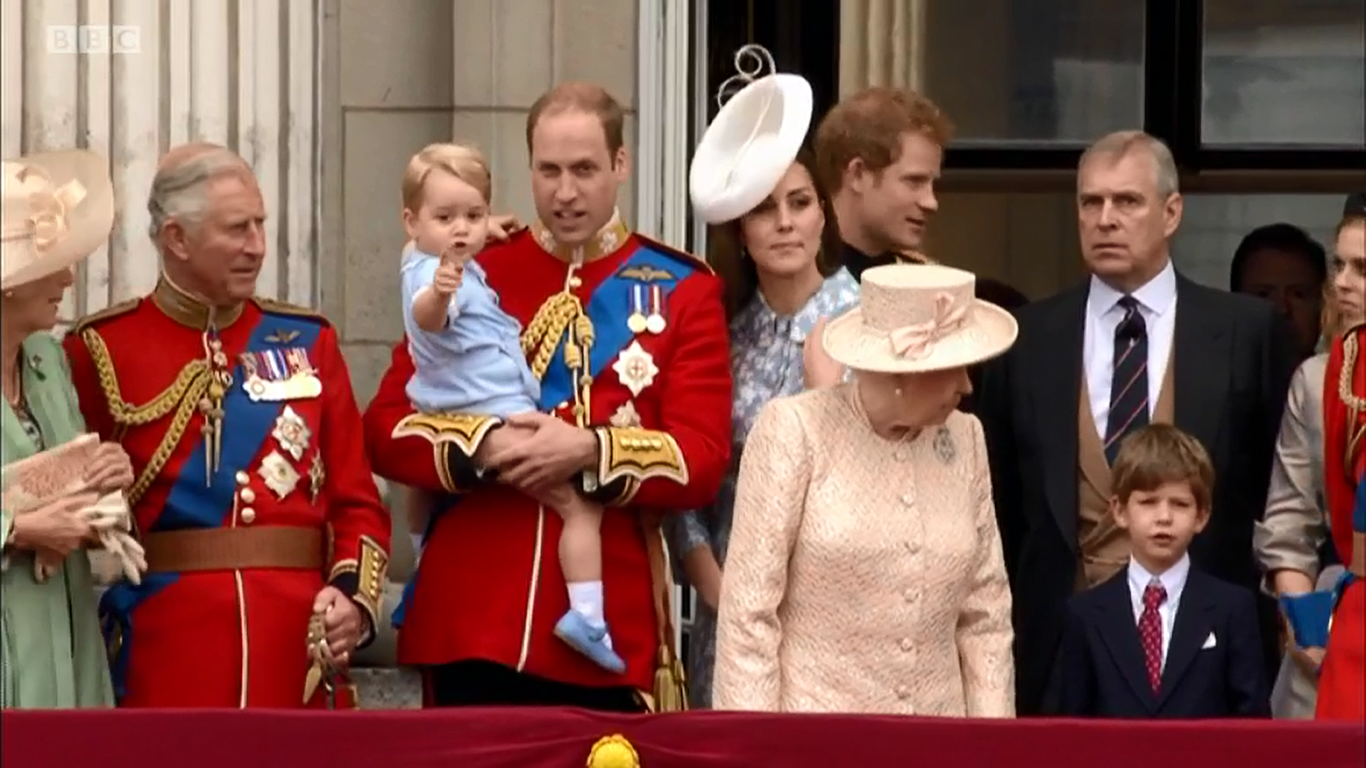 On the balcony after Trooping the Colour 2015
