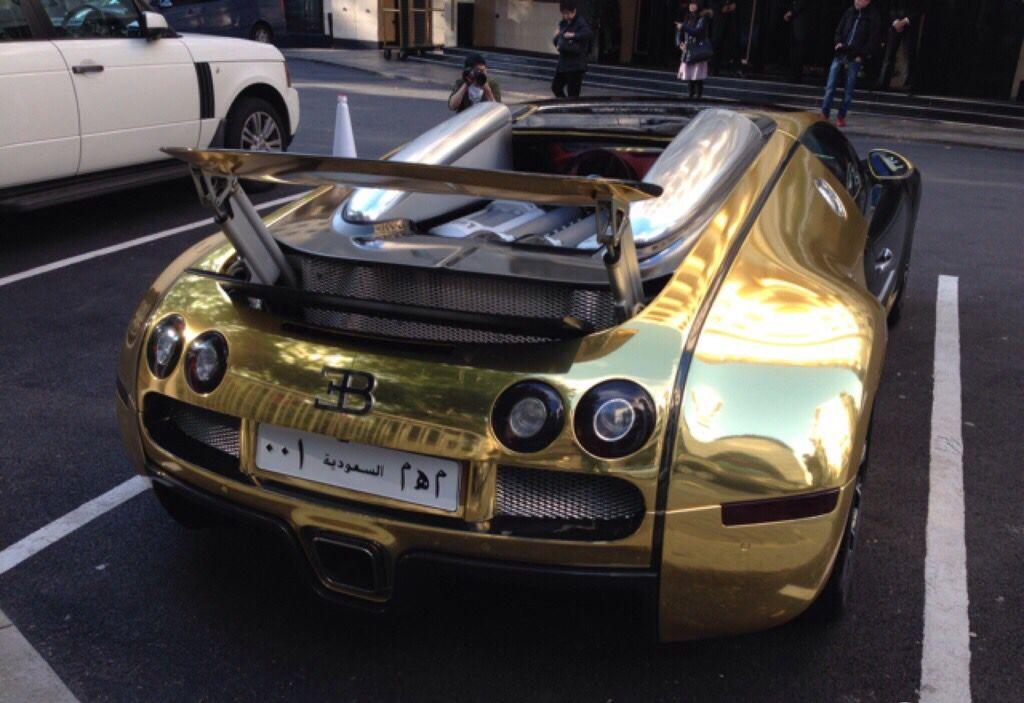 Golden Bugatti Veyron Grand Sport From Saudi Arabia Super Cars
