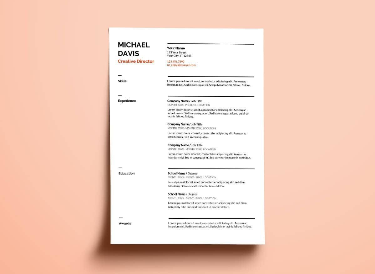Resume Templates For Google Docs 4 Templates Example Templates Example