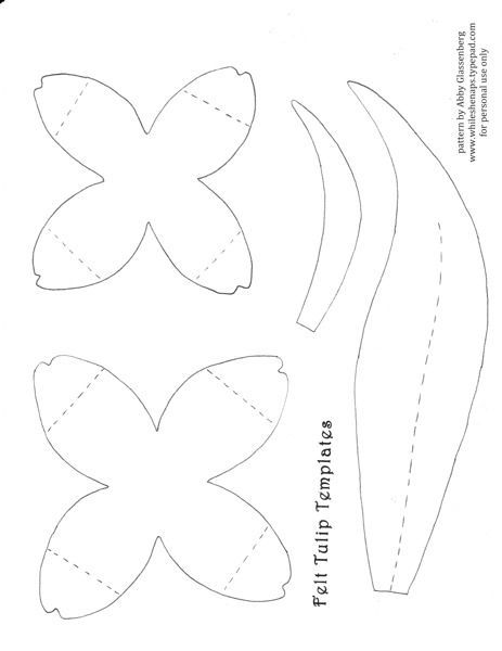 To Make The Tulips Download This Template I Created For The Petals