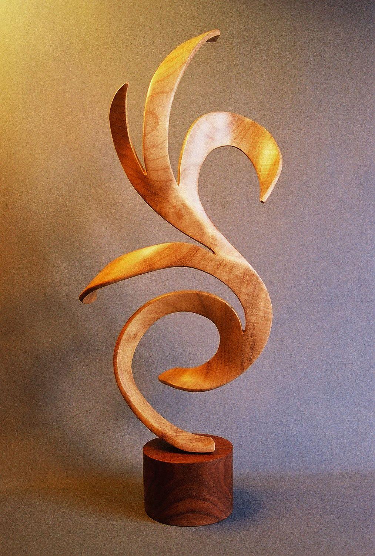Cygnus Hand Carved Wood Sculpture 3 000 00 Via Etsy