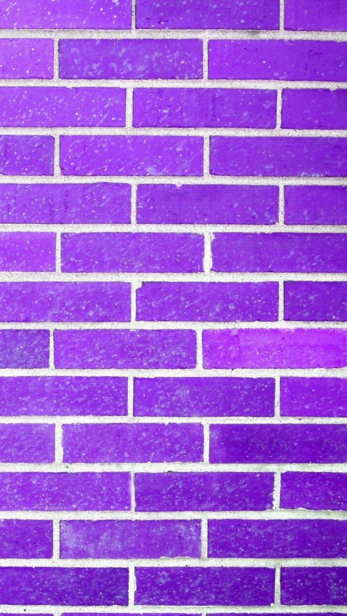 Purple Brick Wall Texture iPhone Wallpaper Purple