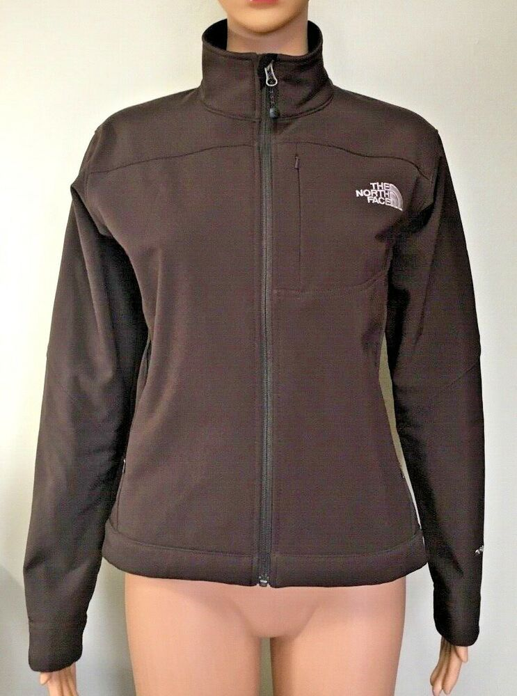36ccc854c THE NORTH FACE TNF Apex Bionic Womens Brown Soft Shell Full Zip ...