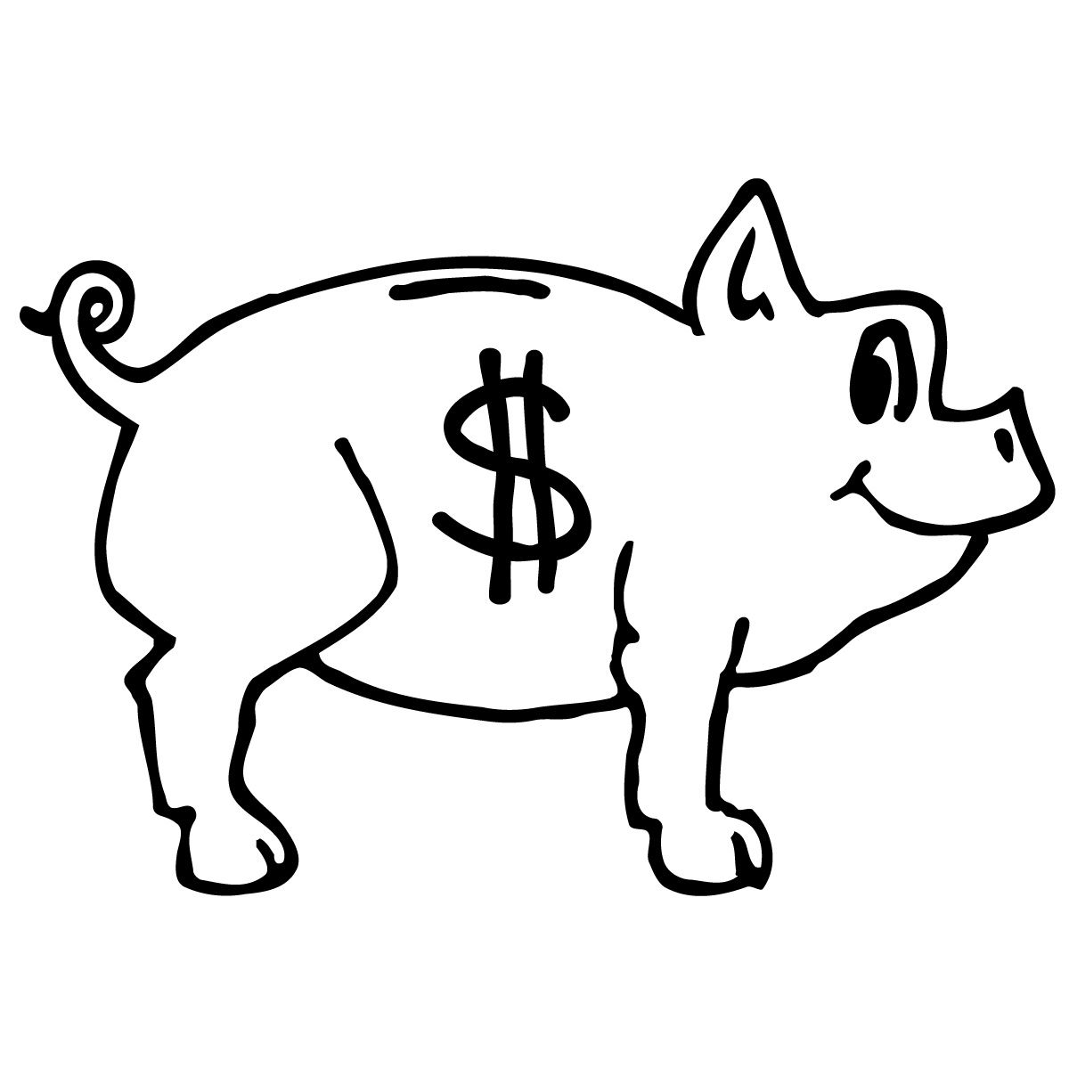 Piggybankbnw Jpg 1200 1200 Coloring Pages American Dollar Piggy