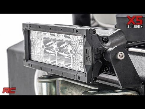10 In Cree Led Light Bar X5 Series 76912 Rough Country Suspension Systems Cree Led Light Bar Led Light Bars Cree Led