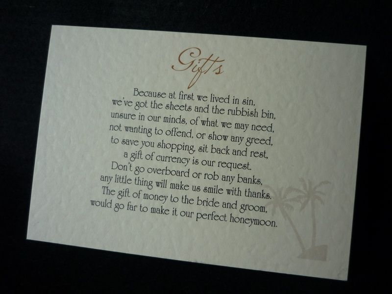 Wedding Invitation Wording Ideas With Poems: Money Tree Poem Wording - Google Search