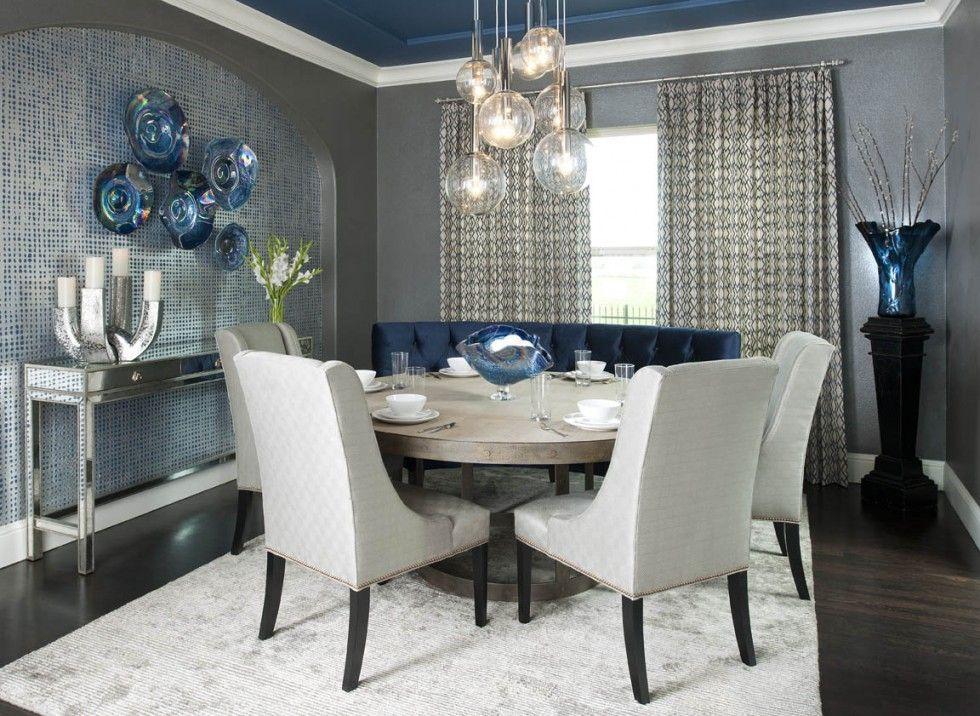 Deco Interieur Bleu Et Gris Salle A Manger Bleu Gris