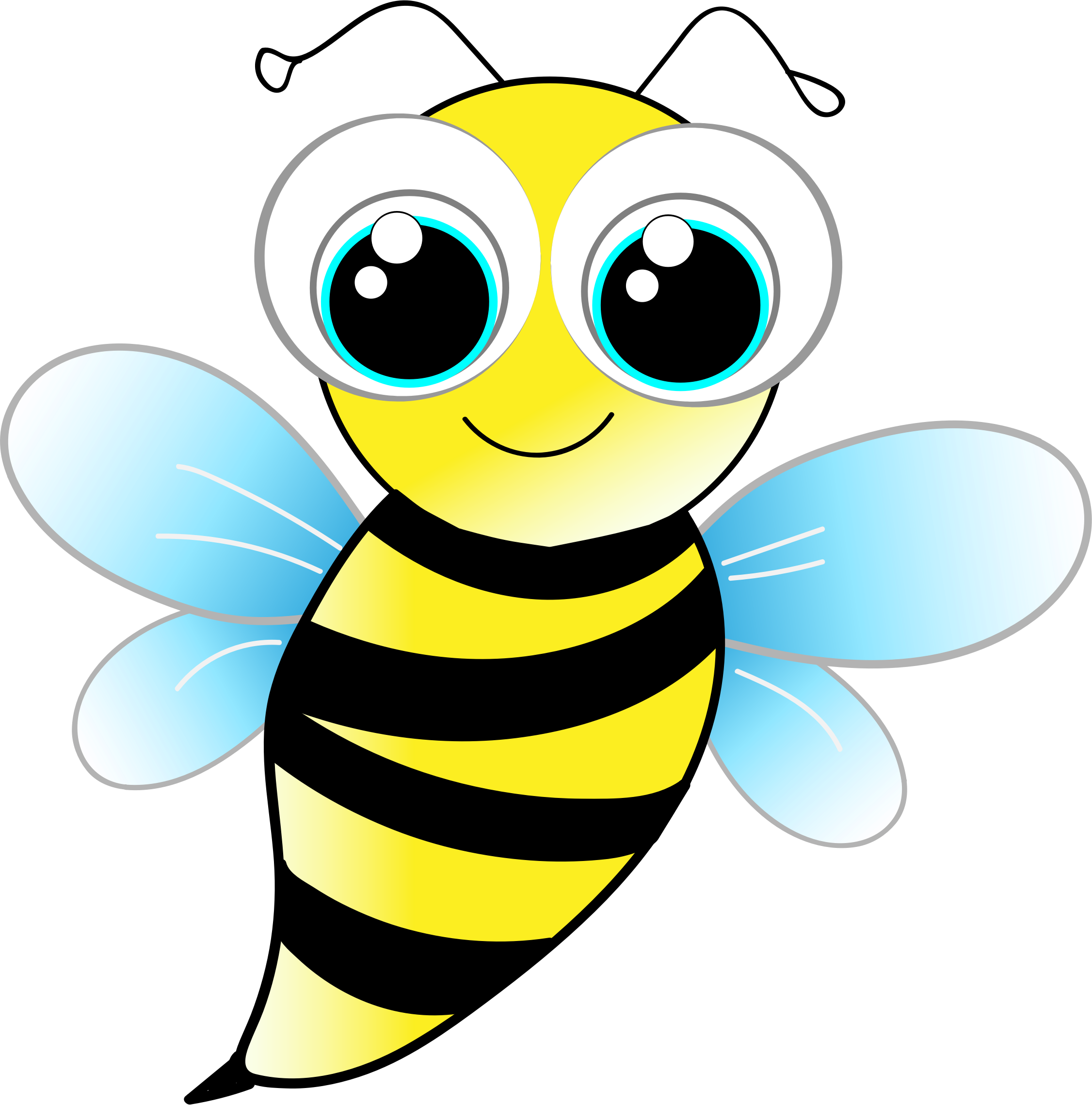 Bee by a.tauzzi, A bigeyed bee., on openclipart Cute