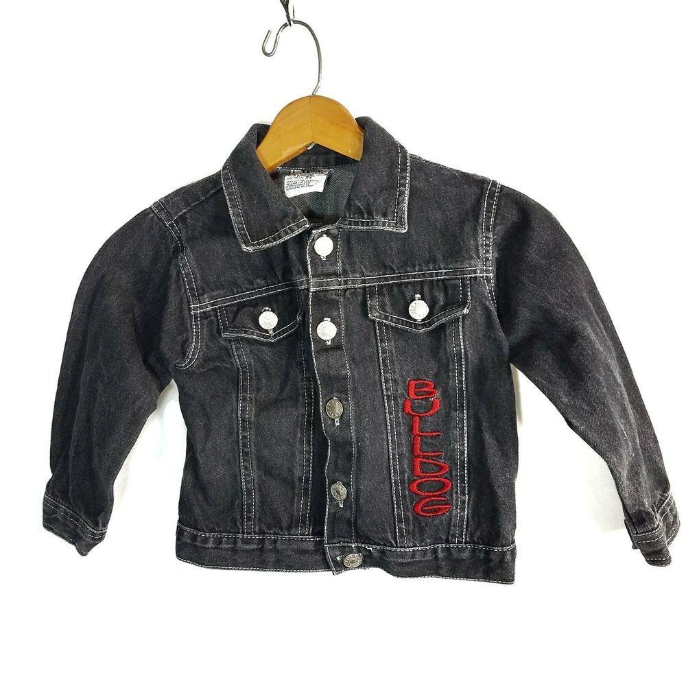 Tuff Guys Toddler Boys Jean Jacket Size 3t Black Denim Bulldog Outerwear Ebay Jean Jacket For Girls Denim Jacket Women Boys Hooded Jacket [ 1000 x 1000 Pixel ]