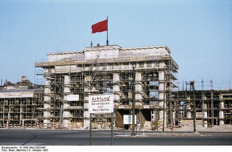 1957 Brandenburger Tor Brandenburger Tor Berlin Brandenburger Tor Berliner Mauer