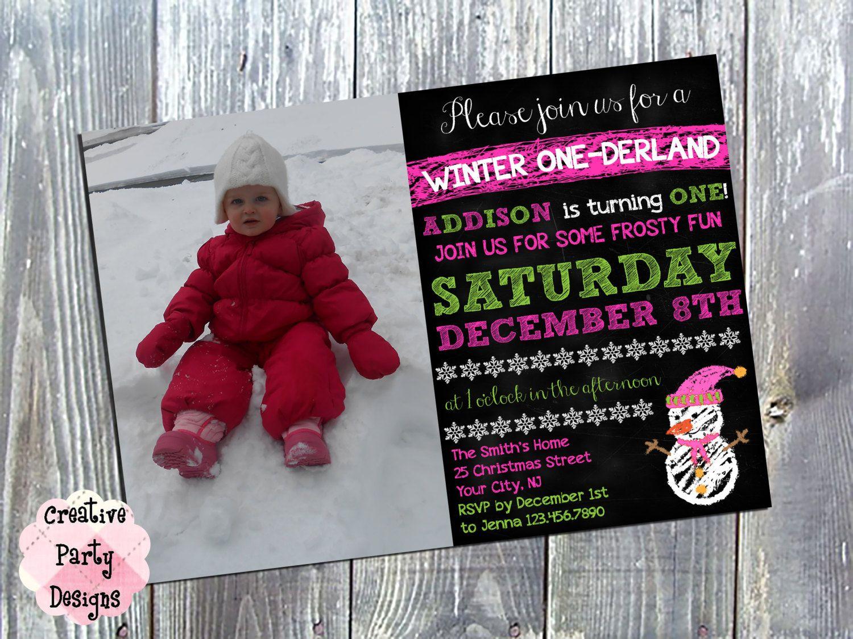 Winter One-derland Invitation - Winter Theme First Birthday - First ...