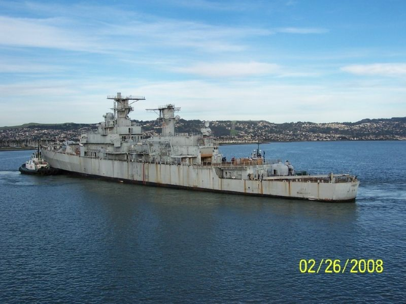 The ex-USS Horne, CG-30, being towed to her sinkex death in 2008. She was the last Belknap class cruiser left, I was very unhappy that no ship of this type was preserved.