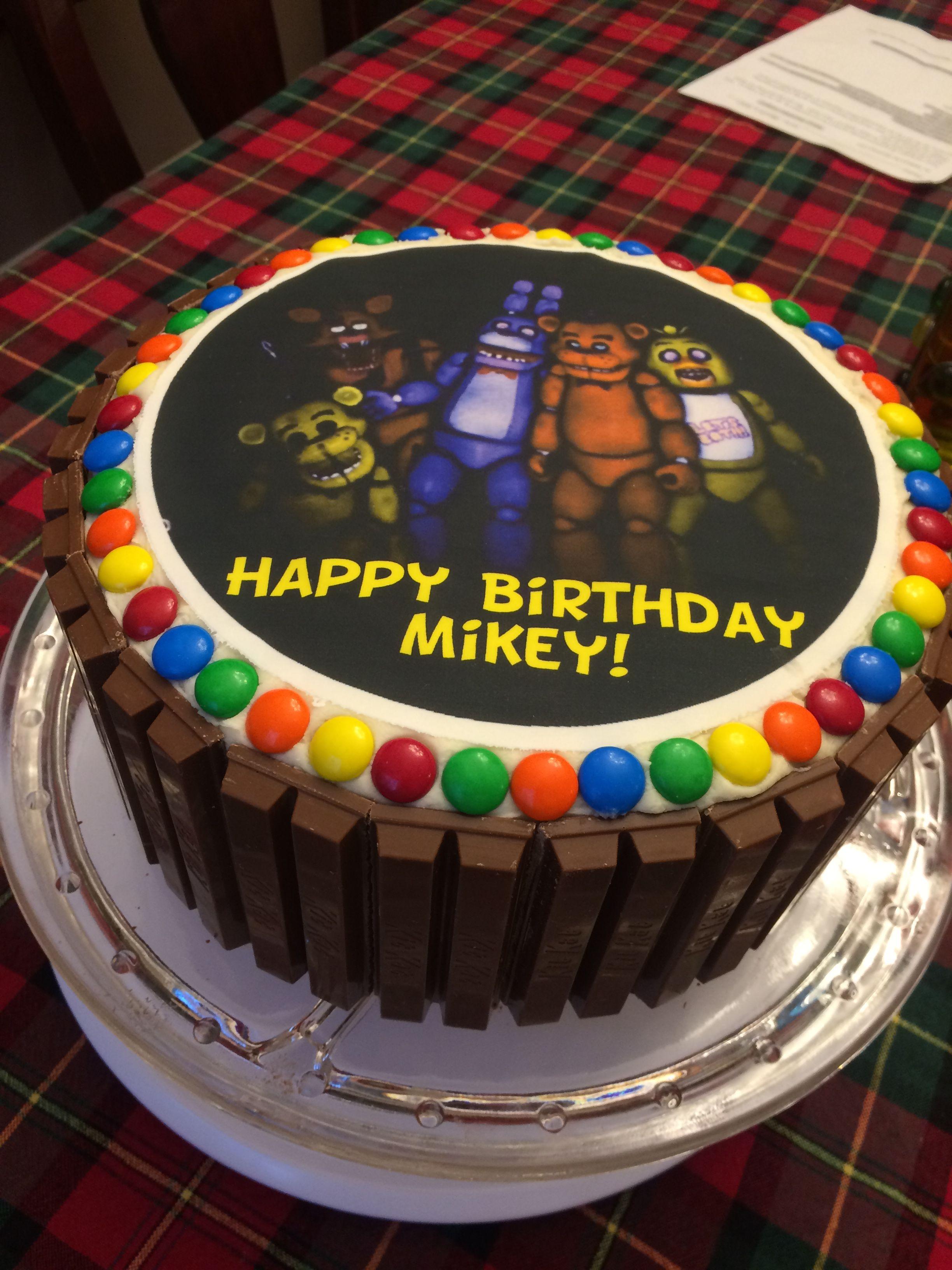 Five nights at freddys kit kat cake fnaf cake cake