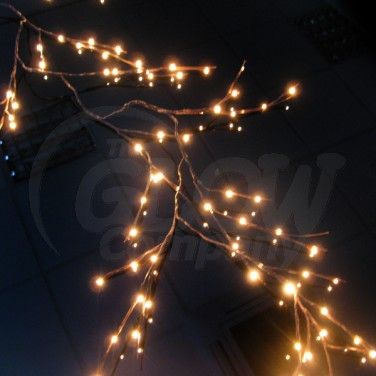 brown twig led garland light at the glow company