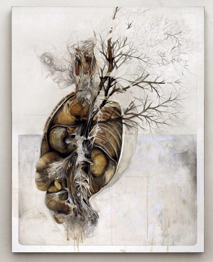 Nunzio Paci  Title: The roots made me see, the soil made me breathe / Le radici mi fecero vedere, la terra mi fece respirare Dim: cm 130x100 Tecnique: oil and pencil on canvas / olio, matita su tela Year: 2014