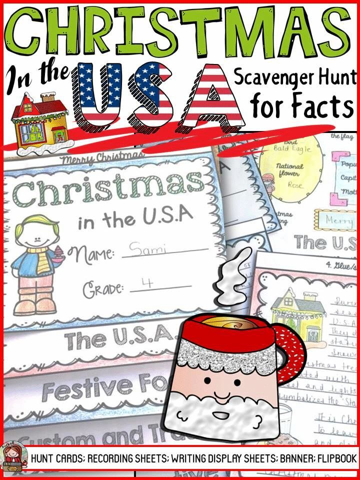 christmas christmas around the world christmas in the usa scavenger huntshistory factslearning