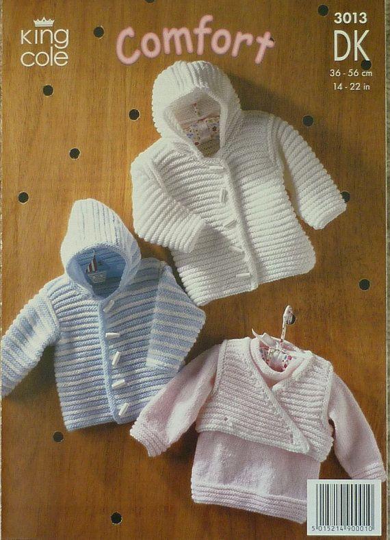 Baby Knitting Pattern K3013 Babies Jumper Jacket Body Warmer ...