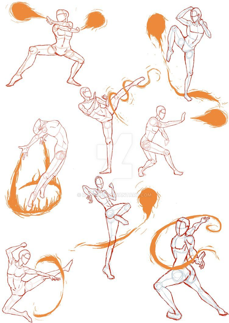 Practice Sketches 4 (FireBender Poses) by R-a-v-3-n on DeviantArt ...